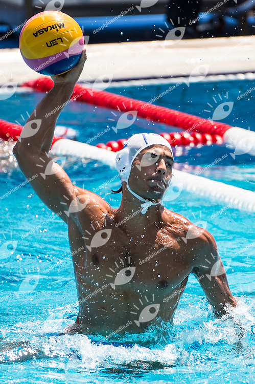 2 DI FULVIO FrancescoITA<br /> ITA(white) vs GEO(blue) Men<br /> LEN European Water Polo Championships 2014 - July 14-27<br /> Alfred Hajos -Tamas Szechy Swimming Complex<br /> Margitsziget - Margaret Island<br /> Day04 - July 17 <br /> Photo G. Scala/Inside/Deepbluemedia