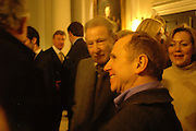 Lucian Freud and Wayne Sleep, Opening of an exhibition of watercolours by David Hockney. Midsummer: East Yorkshire 2004, Gilbert Collection. Somerset House. 16  November 2005 . ONE TIME USE ONLY - DO NOT ARCHIVE © Copyright Photograph by Dafydd Jones 66 Stockwell Park Rd. London SW9 0DA Tel 020 7733 0108 www.dafjones.com