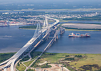 Ravenel Bridge aerial #2 during opening ceremony. July 2005.