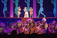 "Australian pop singer Kylie Minogue (Top C) performs on stage during her ""Aphrodite - Les Folies""-Tour at Hallenstadion in Zurich, Switzerland, Wednesday, March 9, 2011. (Photo by Patrick B. Kraemer / MAGICPBK)"