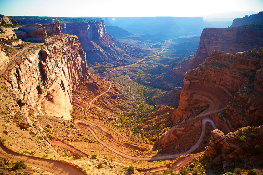 A sublime driving road into the valley at Canyonlands National Park.