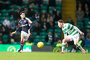 Dundee's Faissal El Bakhtaoui and Celtic's Callum McGregor - Celtic v Dundee in the Ladbrokes Scottish Premiership at Celtic Park, Glasgow. Photo: David Young<br /> <br />  - © David Young - www.davidyoungphoto.co.uk - email: davidyoungphoto@gmail.com