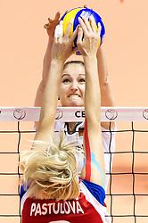29.09.2011, Hala Pionir, Belgrad, SRB, Europameisterschaft Volleyball Frauen, Viertelfinale, Deutschland (GER) vs. Tschechien (CZE, im Bild Corina Ssuschke-Voigt (#9 GER / Sopot POL) - Kristyna Pastulova (#3 CZE) // during the 2011 CEV European Championship, Quarterfinal at Hala Pionir, Belgrade, SRB, Germany vs Czech Republic, 2011-09-29. EXPA Pictures © 2011, PhotoCredit: EXPA/ nph/  Kurth       ****** out of GER / CRO  / BEL ******