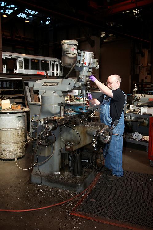 Machinest works with old machine