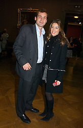 The HON.HENRY ALLSOPP and SOPHIE MEAD-BRIGGS at the opening of The National Cafe and an exclusive private view of the National Gallery's Valazquez Exhibition, at The National Gallery, Trafalgar Square, London on 26th October 2006.<br />