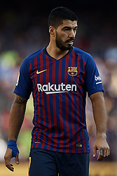 September 29, 2018 - Barcelona, Barcelona, Spain - Luis Suarez of FC Barcelona looks on during the La Liga match between FC Barcelona and Athletic Club de Bilbao at Camp Nou on September 29, 2018 in Barcelona, Spain  (Credit Image: © David Aliaga/NurPhoto/ZUMA Press)