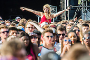 The crowd awaits Childish Gambino - Wireless festival, Finsbury Park, London, UK