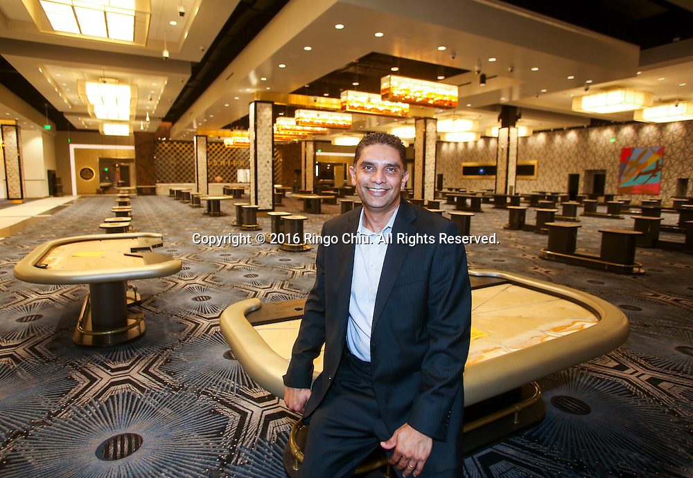 Hollywood Park Casino General Manager Deven Kumar at the new areas of the casino.(Photo by Ringo Chiu/PHOTOFORMULA.com)<br /> <br /> Usage Notes: This content is intended for editorial use only. For other uses, additional clearances may be required.