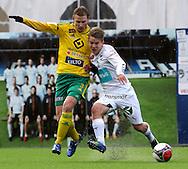 16.4.2015, Tehtaan kenttä, Valkeakoski.<br /> Suomen Cup 2015, 6. kierros<br /> Ilves - IFK Mariehamn<br /> Heikki Aho (Ilves) v Robin Sid (IFK Mhamn).