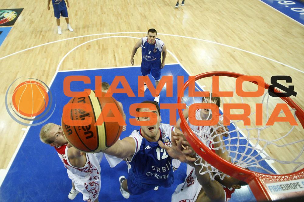 DESCRIZIONE : Katowice Poland Polonia Eurobasket Men 2009 Quarter Final Russia Serbia<br /> GIOCATORE : Nenad Krstic<br /> SQUADRA : Serbia<br /> EVENTO : Eurobasket Men 2009<br /> GARA : Russia Serbia<br /> DATA : 17/09/2009 <br /> CATEGORIA :<br /> SPORT : Pallacanestro <br /> AUTORE : Agenzia Ciamillo-Castoria/E.Castoria<br /> Galleria : Eurobasket Men 2009 <br /> Fotonotizia : Katowice  Poland Polonia Eurobasket Men 2009 Quarter Final Russia Serbia<br /> Predefinita :