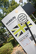 Ecotricity electric highway charging sign site, UK