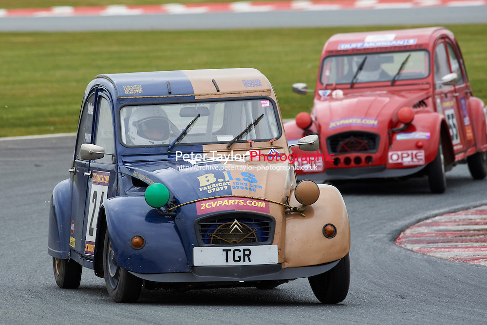 #24 Thomas PERRY Citroen 2CV 602 during 2CVParts.com Classic Championship as part of the BARC NW - Championship Raceday  at Oulton Park, Little Budworth, Cheshire, United Kingdom. March 19 2016. World Copyright Peter Taylor/PSP. Copy of publication required for printed pictures.  Every used picture is fee-liable.