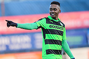 Forest Green Rovers Keanu Marsh-Brown(7) during the FA Trophy match between Macclesfield Town and Forest Green Rovers at Moss Rose, Macclesfield, United Kingdom on 4 February 2017. Photo by Shane Healey.