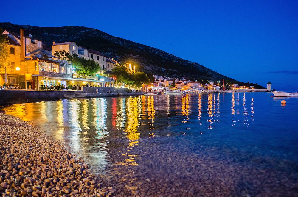 Blue hour at Bol Harbor, Brač Island Croatia