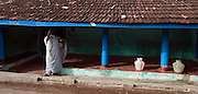 Facade of home on Beach Road, Nagore. South India.