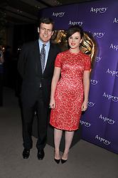 ALEXANDRA ROACH and PADDY BYNG MD of Asprey at the Asprey BAFTA Party held at Asprey, 167 New Bond Street, London on 11th February 2012.
