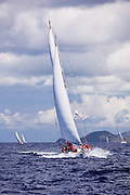 Atrevida sailing in the Cannon Race at the 2011 Antigua Classic Yacht Regatta.