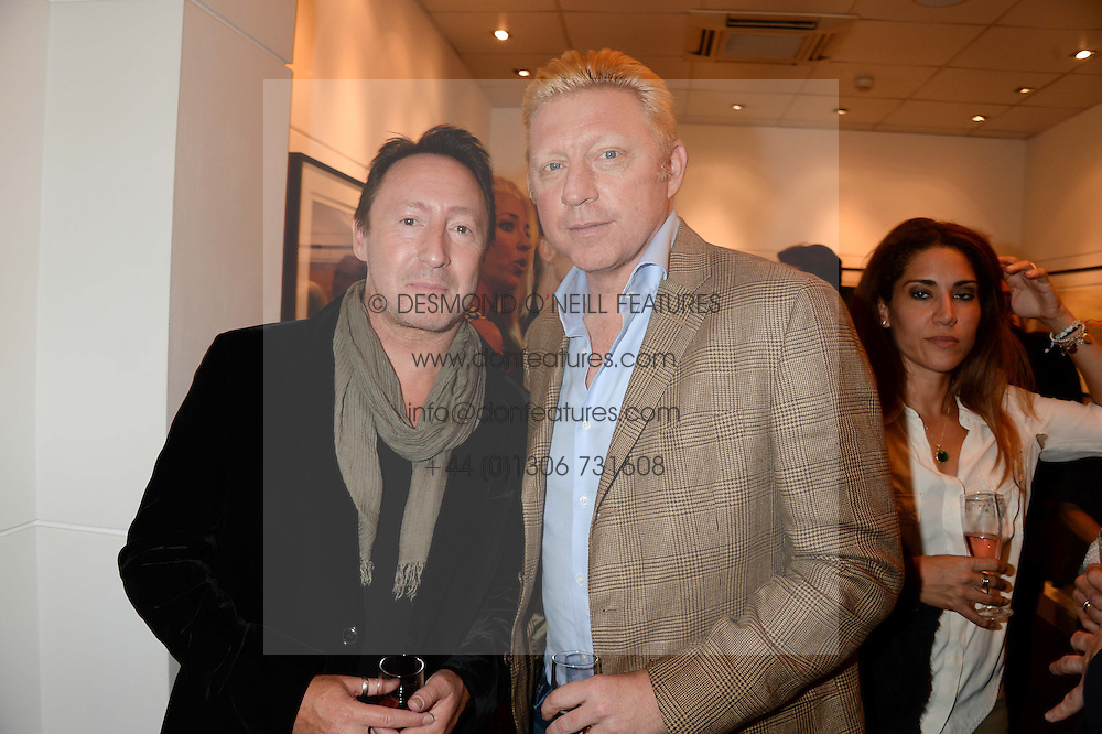 Left to right, JULIAN LENNON and BORIS BECKER at a private view of Photographs by Julian Lennon held at The Little Black Gallery, 13A Park Walk, London SW10 on 17th September 2013.