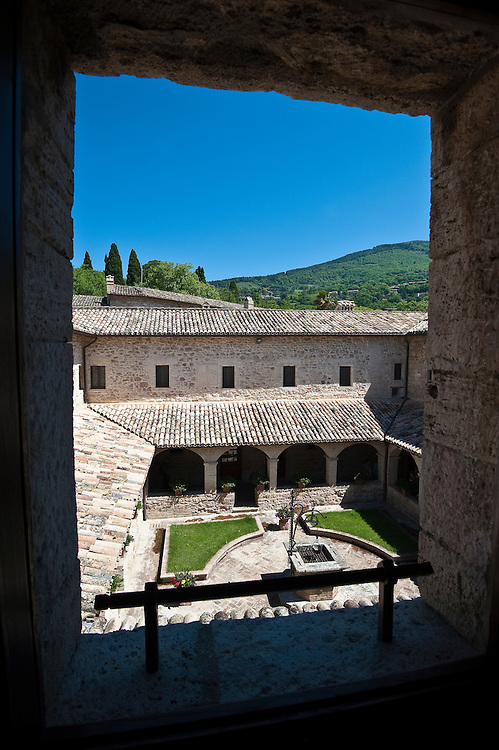A view of the courtyard at San Damiano Church in Assisi. (Sam Lucero photo)
