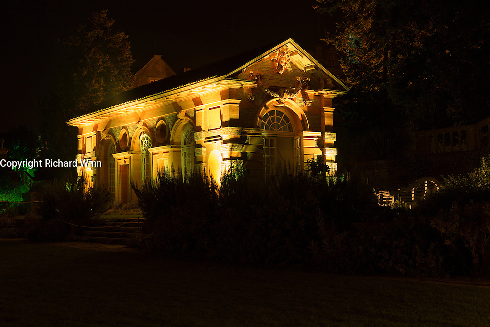 Illumination of the Orangery at Hestercombe Gardens, Cheddon Fitzpaine, Somerset, England. Part of the Illumina Project, by Ulf Pedersen.