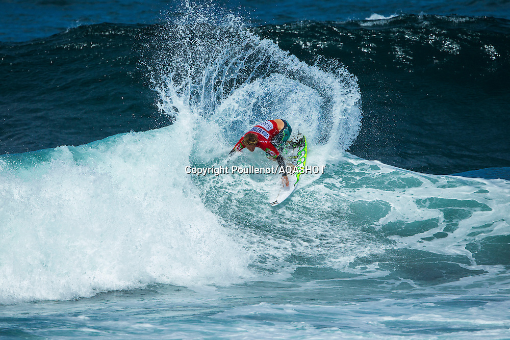 Praia de Santa Bárbara, Sao Miguel / Azores Islands (Friday, September 5, 2014): Yadin Nicol (AUS) advanced into the semifinals of the ASP Prime SATA Azores Pro pres. by Sumol, where he will face Joan Duru when the event recommences tomorrow.<br /> IMAGE CREDIT: ASP/Poullenot<br /> PHOTOGRAPHER CREDIT: Damien Poullenot