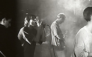 Happy Mondays onstage at the Free Trade Hall in Manchester, 1989.