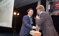 AMSTERDAM - Nationaal Golf Congres & Beurs 2015. NVG. Hidde Verschuur met Lodewijk Kloorwijk  FOTO KOEN SUYK