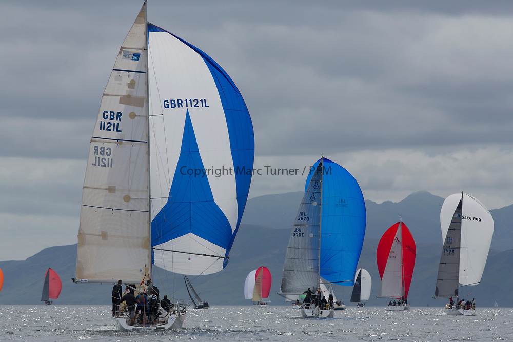 Silvers Marine Scottish Series 2017<br /> Tarbert Loch Fyne - Sailing Day 3<br /> <br /> GBR1121L, Tangaroa, Eliz &amp; Des Balmforth, CCC, Pronavia 38
