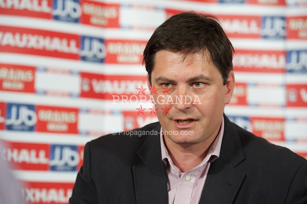 CARDIFF, WALES - Thursday May 10, 2012: Welsh Football Trust Chief Executive Neil Ward during a press conference at the Vale of Glamorgan Hotel. (Pic by David Rawcliffe/Propaganda)