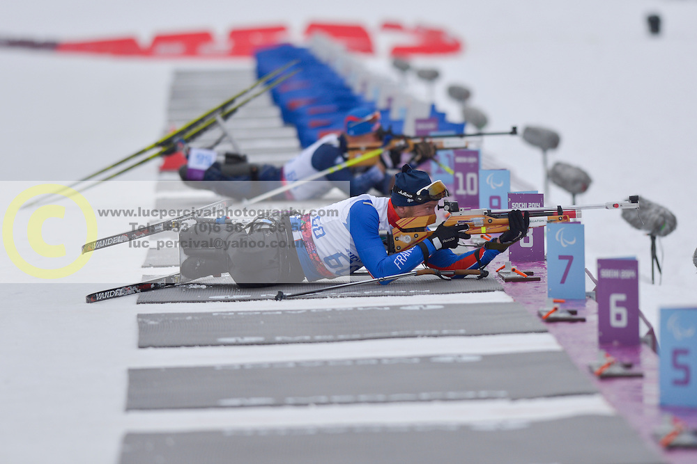 ROSIQUE Romain, Biathlon at the 2014 Sochi Winter Paralympic Games, Russia