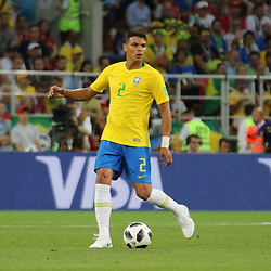 June 27, 2018 - Moscow, Russia - June 27, 2018, Russia, Moscow, FIFA World Cup 2018, First round, Group D, Third round. Football match Serbia - Brazil at the stadium of Spartak. Player of the national team Thiago Silva. (Credit Image: © Russian Look via ZUMA Wire)