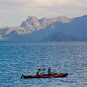 Kayakers enjoying Loreto's scenery.