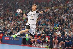 01.06.2014, Lanxess Arena, Koeln, GER, IHF, Final Four, THW Kiel vs SG Flensburg-Handewitt, im Bild Gudjon Valur Sigurdsson (THW Kiel #9) beim Torwurf // during IHF Final Four Match between THW Kiel and SG Flensburg-Handewitt at the Lanxess Arena in Koeln, Germany on 2014/06/01. EXPA Pictures © 2014, PhotoCredit: EXPA/ Eibner-Pressefoto/ Schueler<br /> <br /> *****ATTENTION - OUT of GER*****