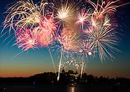 July 4th 2017 Fireworks Alexandria Bay New York USA