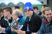 An Eastleigh fan with his match day programme before the The FA Cup third round match between Eastleigh and Bolton Wanderers at Silverlake Stadium, Ten Acres, Eastleigh, United Kingdom on 9 January 2016. Photo by Graham Hunt.