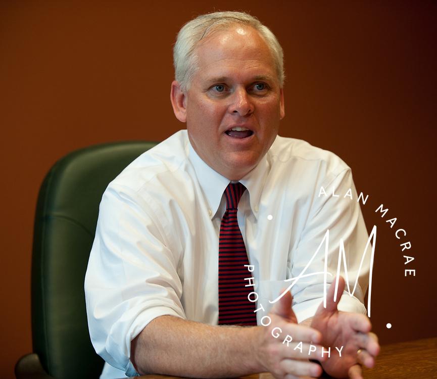 Sean Mahoney ed board.  (Alan MacRae/for the Citizen)