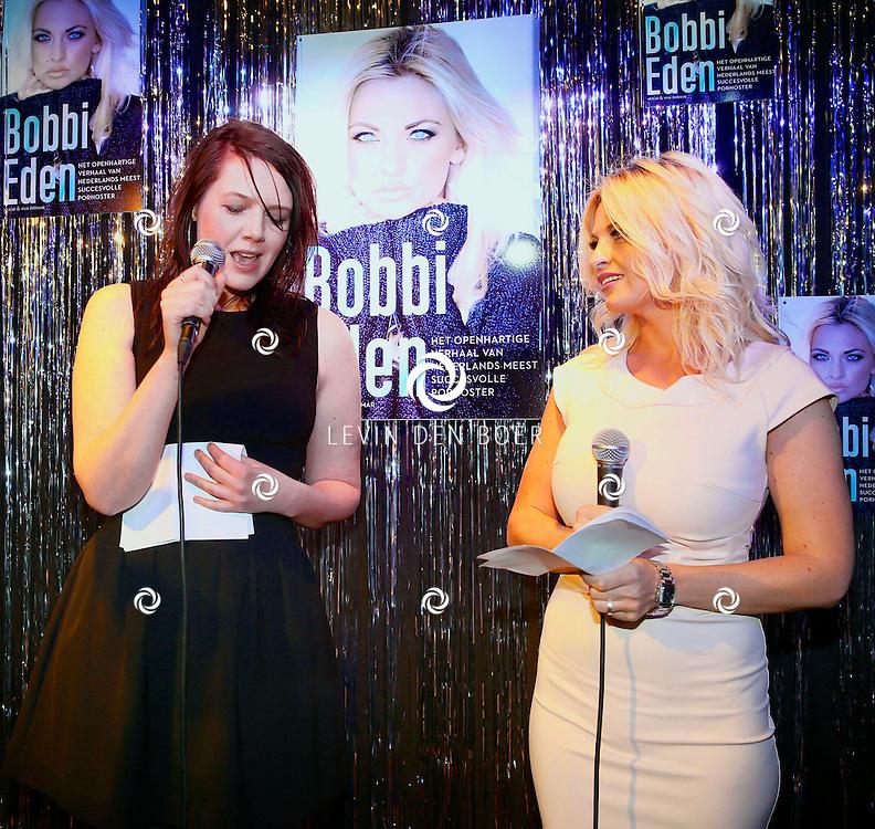 AMSTERDAM - Pornoster Bobbi Eden presenteerde haar biografie. Met hier op de foto  Bobbi Eden. FOTO LEVIN DEN BOER - PERSFOTO.NU