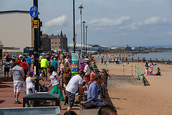 Portobello Beach and promenade today.