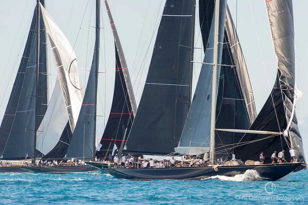 Bermuda, 14th June 2017. America's Cup Superyacht regatta. J Class race Two start.