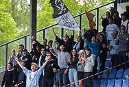 FODBOLD: FC Helsingør fans under kampen i NordicBet Ligaen mellem Nykøbing FC og FC Helsingør den 19. maj 2019 på CM Arena i Nykøbing Falster. Foto: Claus Birch