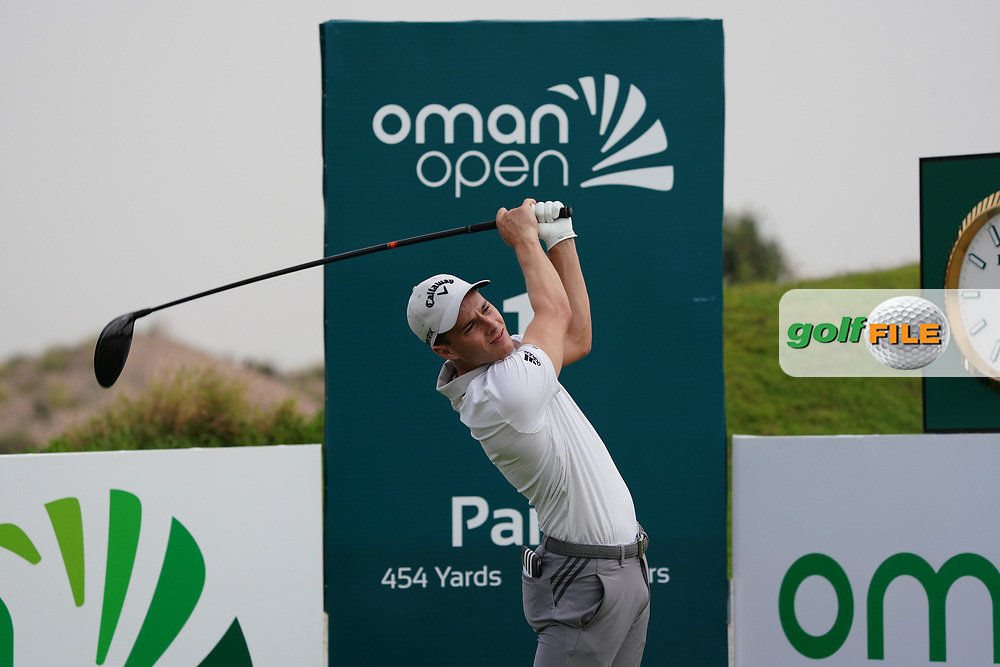 Matthew Jordan (ENG) on the 1st during Round 1 of the Oman Open 2020 at the Al Mouj Golf Club, Muscat, Oman . 27/02/2020<br /> Picture: Golffile | Thos Caffrey<br /> <br /> <br /> All photo usage must carry mandatory copyright credit (© Golffile | Thos Caffrey)