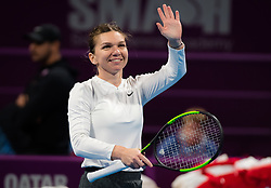 February 13, 2019 - Doha, QATAR - Simona Halep of Romania in action during second round at the 2019 Qatar Total Open WTA Premier tennis tournament (Credit Image: © AFP7 via ZUMA Wire)