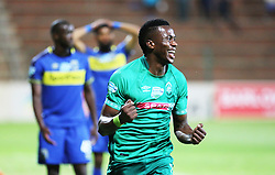 23102018 (Durban) Amazulu player Bonginkosi Ntuli celebrates a goal during the first round of the Telkom Knockout concluded on Tuesday night when Amazulu walloped the MTN8 Cup winners Cape Town City  2-0 at the King Zwelithini stadium, Durban. Amazulu making their way to the quarter finals were they would be playing against Orlando Pirates at the same venue.<br /> Picture: Motshwari Mofokeng/African News Agency (ANA)