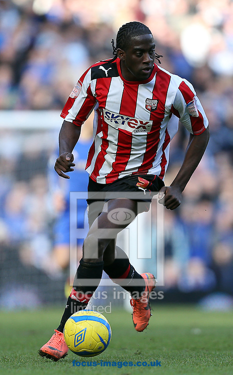 Picture by Paul Terry/Focus Images Ltd +44 7545 642257.17/02/2013.Clayton Donaldson of Brentford during the The FA Cup match at Stamford Bridge, London.