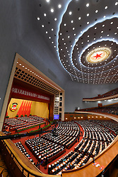 The closing meeting of the fourth session of the 12th National Committee of the Chinese People's Political Consultative Conference is held at the Great Hall of the People in Beijing, capital of China, March 14, 2016. EXPA Pictures © 2016, PhotoCredit: EXPA/ Photoshot/ Yang Zongyou<br /> <br /> *****ATTENTION - for AUT, SLO, CRO, SRB, BIH, MAZ, SUI only*****