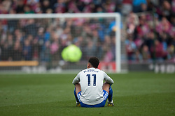 Josh Murphy of Cardiff City looks dejected at the final whistle - Mandatory by-line: Jack Phillips/JMP - 13/04/2019 - FOOTBALL - Turf Moor - Burnley, England - Burnley v Cardiff City - English Premier League