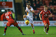 Bradford City midfielder, on loan from Sheffield United, Marc McNulty (18) controls the ball during the EFL Sky Bet League 1 match between Walsall and Bradford City at the Banks's Stadium, Walsall, England on 17 December 2016. Photo by Simon Davies.