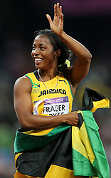 04.08.2012, Olympia Stadion, London, GBR, Olympia 2012, Leichtathletik, im Bild Winner of the 100m race for women, Shelly Ann Fraser Pryce. // during Athletics, at the 2012 Summer Olympics at the Olympic Stadium, London, United Kingdom on 2012/08/04. EXPA Pictures © 2012, PhotoCredit: EXPA/ Pixsell/ Igor Kralj *****ATTENTION - OUT OF CRO, SRB, MAZ, BIH and POL *****