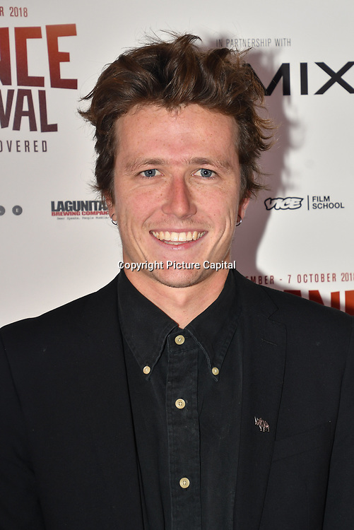 Director Mark Halliday of Vestige attend World Premiere of Team Khan - Raindance Film Festival 2018 at Vue Cinemas - Piccadilly, London, UK. 29 September 2018.
