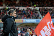 Nottingham Forest manager Philippe Montanier watches his players during the EFL Sky Bet Championship match between Nottingham Forest and Cardiff City at the City Ground, Nottingham, England on 22 October 2016. Photo by Jon Hobley.